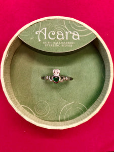 Sterling Silver Claddagh Ring -  Solvar