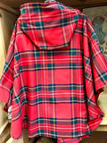 Royal Stewart Tartan Wool Hooded Cape -  O'Neills