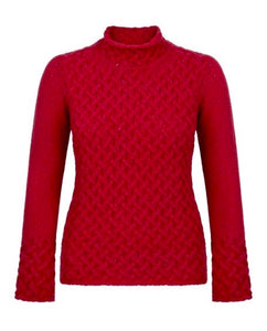 Copy of Fisherman Ladies Fitted Aran Tunic...Rust