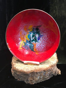 Enamel Copper Red Bowl Large -  Maeb