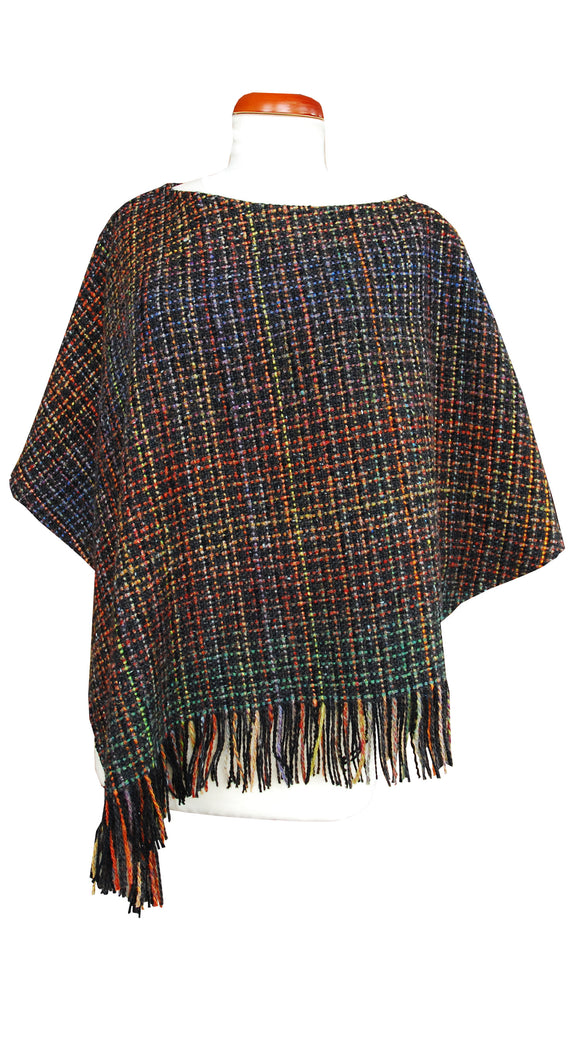 Handwoven Studio Donegal Irish Tweed Poncho