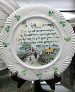 Belleek Irish Blessing Plate -  Belleek