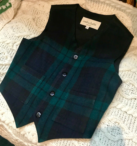 Blackwatch Tartan Wool Vest -  O'Neills
