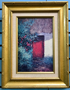 Edmund Sullivan Irish Cottage Red Door Painting -  Edmund Sullivan