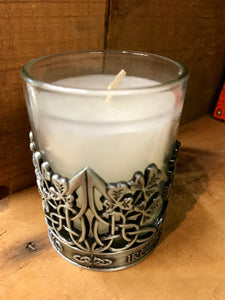 Pewter Shamrock Candle Holder -  Mary-Anne's Irish Gift Shop