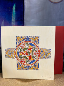 Greeting Card - Celtic knot work Cross