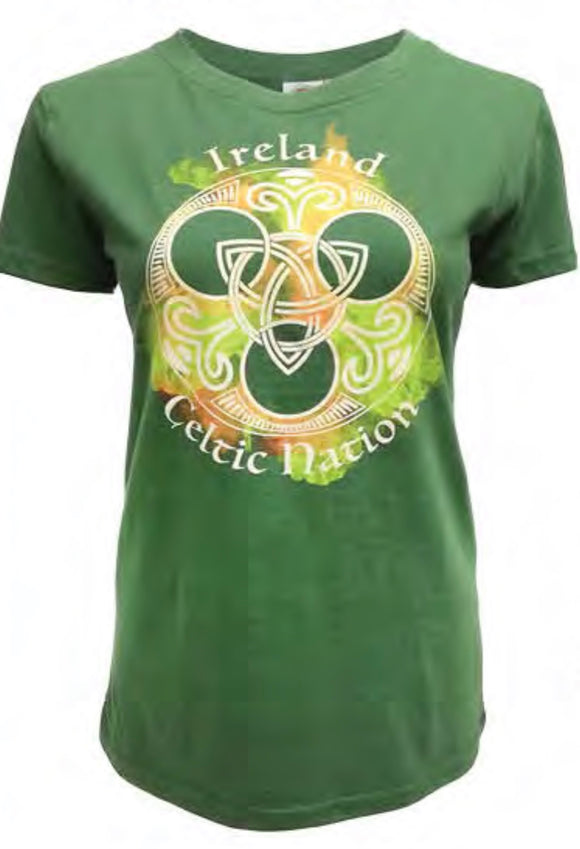Ladies Ireland T Shirt -  Aran crafts