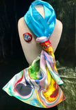 Handpained Silk Scarf -  Maeb