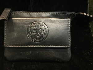 Leather Change Purse with a Celtic Eternity Knot