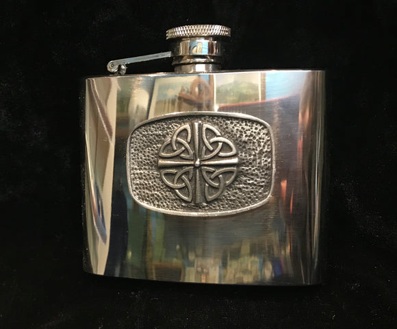 Mullingar Pewter Celtic Knot Hip Flask -  Mary-Anne's Irish Gift Shop