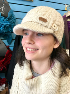 Aran Cable Knitted Cap -  Mary-Anne's Irish Gift Shop