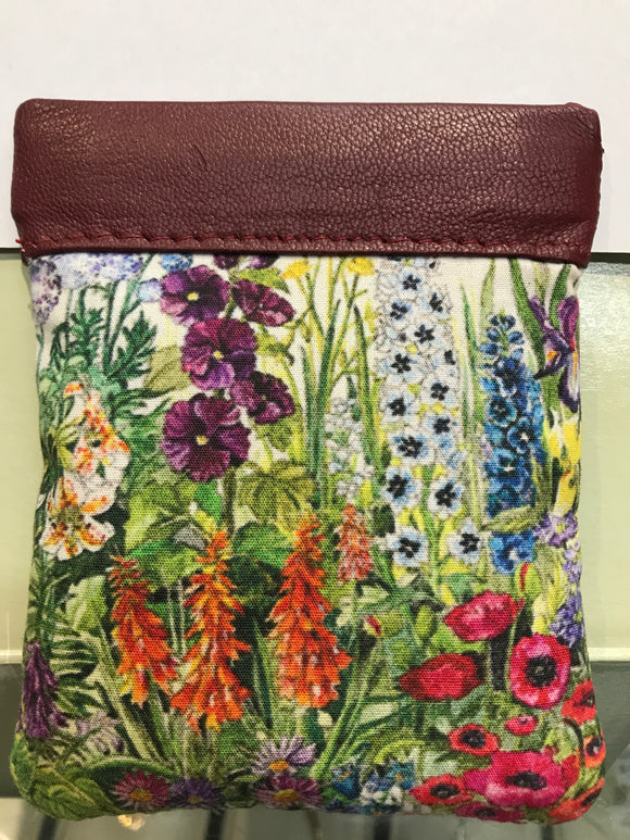 Leather Irish Wildflower Change Purse -  tinakeely