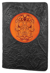 Leather Day of the Dead Refillable Journal -  Mary-Anne's Irish Gift Shop