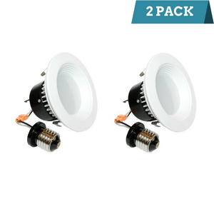 4 Inch - 10 Watt LED Retrofit Downlight - 3000K - Pack of 2