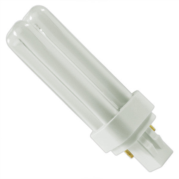 13W - 2 Pin GX23-2 Base - Quad Tube - 2700K - CFL - Title 24 Plug-in Compact Fluorescent Light Bulb - 120V - 80CRI - 780 Lumen - Warm White - UL Listed Four Bros Lighting