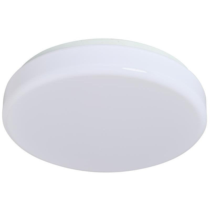 11 Inch - LED Round-Floating Drum Fixture - White Finish - 14 Watt - Karimah Fashion