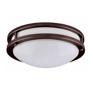 "14"" LED Flush Mount Ceiling Fixture - Energy Star Rated - Bronze Finish - 20 Watt - LED JR-002BZ - Karimah Fashion"