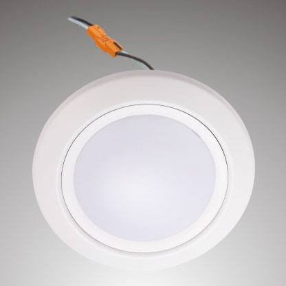 6 Inch - 12W - LED Dimmable J-Box Downlight Disk - 2700K - Wet Rated