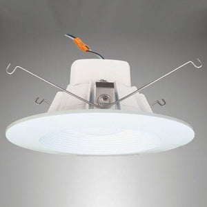 5-6 Inch - 13W - LED Dimmable Downlight - 3000K Warm White - Baffle Trim Four Bros Lighting