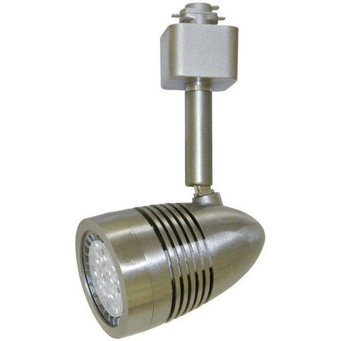 LED Track Lighting - Bullet Style Head - 10 Watt - Dimmable - Nickel Satin - 60W Equal