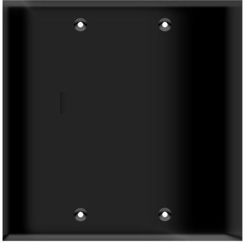 Blank Wall Plate - Black - 2 Gang