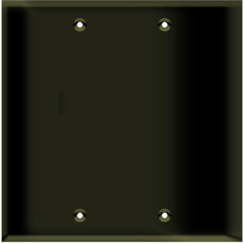 Blank Wall Plate - Brown - 2 Gang