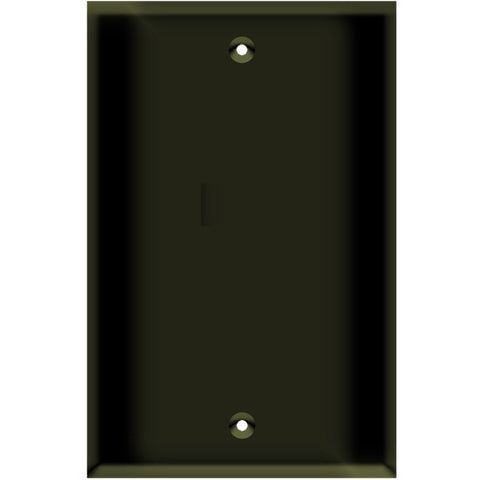 Blank Wall Plate - Brown - 1 Gang