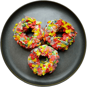 Fruity Pebbles High Protein Donuts