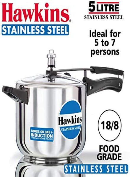 Hawkins Pressure Cooker Stainless Steel - Singal's - Indian Grocery Store