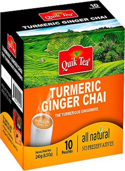 Quik Tea Turmeric Ginger Chai - Singal's - Indian Grocery Store
