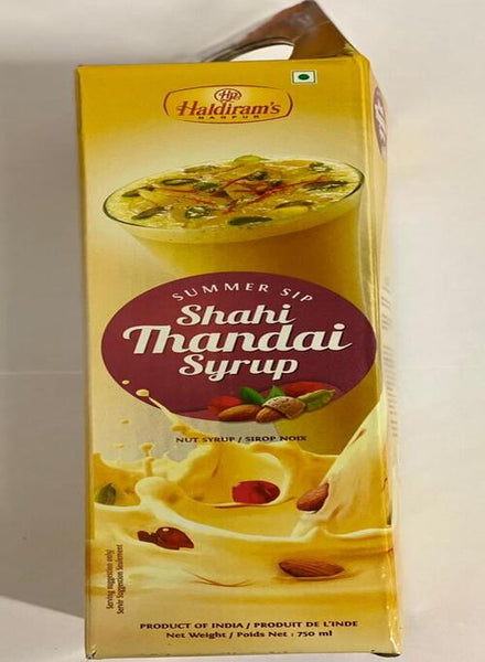 Haldirams Shahi Thandai Syrup - Singal's - Indian Grocery Store