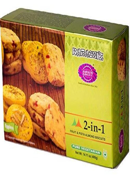Karachi Bakery Fruit & Pista Almond Biscuits - Singal's - Indian Grocery
