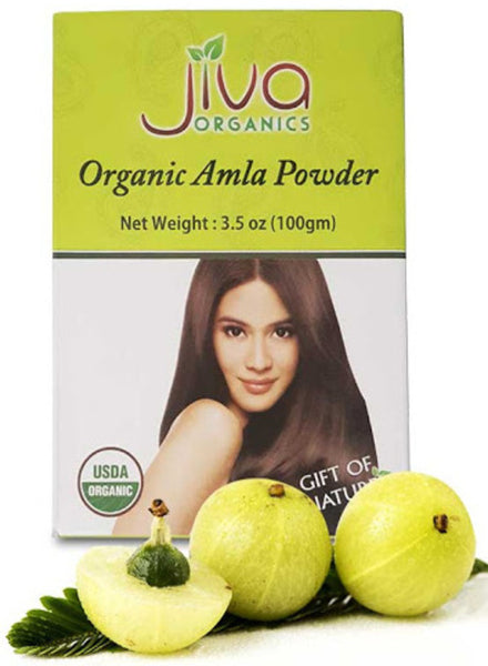 Jiva Organic Amla Powder for Hair - Singal's - Indian Grocery Store