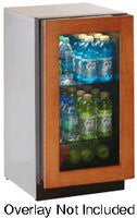 "18"" Glass Door Refrigerator, left hinge, overlay"