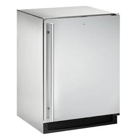 "24"" Outdoor Refrigerator, left hinge, stainless steel"