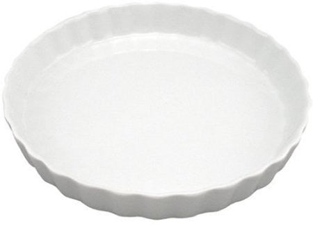 "10"" Round White Porcelain 1 Quart Quiche Dish"