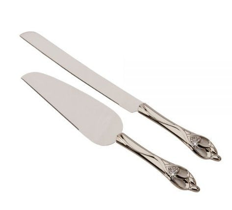 """Embrace"" Knife & Server Set, 13.5"" L"