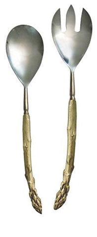 """Asparagus Serving Utensils"" (Set of 2) by Michael Michaud for Silver Seasons Table Art"