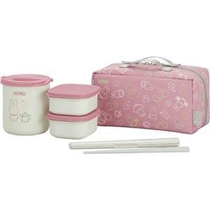 (Buying) Thermos heat insulation lunch box pink white DBQ-252B PKW ~ 2 set