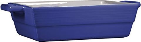 2.25 Qt Americana Blue Two-Tone Double Handle Rectangular Baker