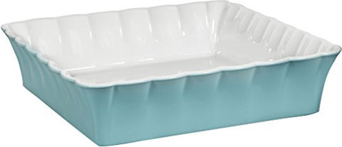 "3.5 Qt Betty Aqua 11""D Square Baker"