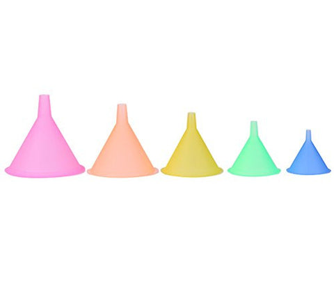 (5 in 1)A Set of Funnel Hopper for Split Charging Different Size Different Colors