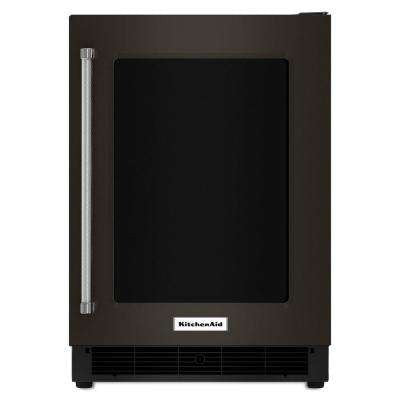 24 in. W 5.1 cu. ft. Undercounter Refrigerator in Black-on-Stainless