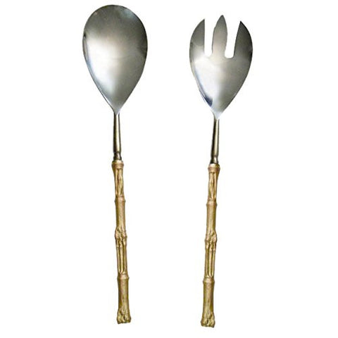 """Bamboo Serving Utensils"" (Set of 2) by Michael Michaud for Silver Seasons Table Art"