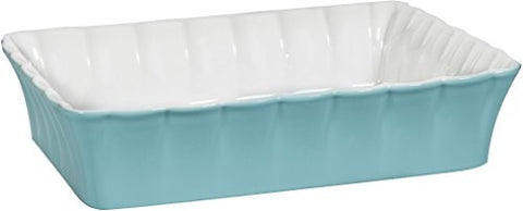 "3 Qt Betty Aqua 12""L Rectangle Baker"
