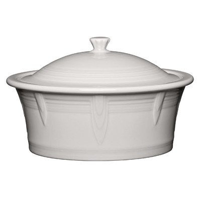 2.81 Qt. Round Covered Casserole Color: White