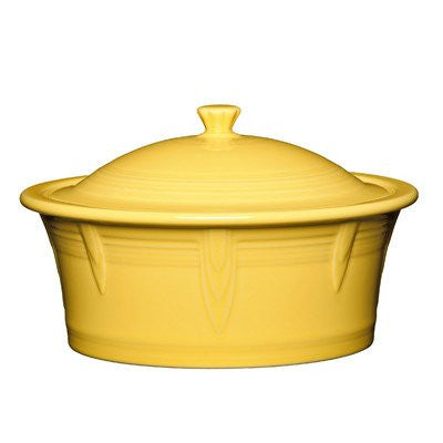 2.81 Qt. Round Covered Casserole Color: Sunflower