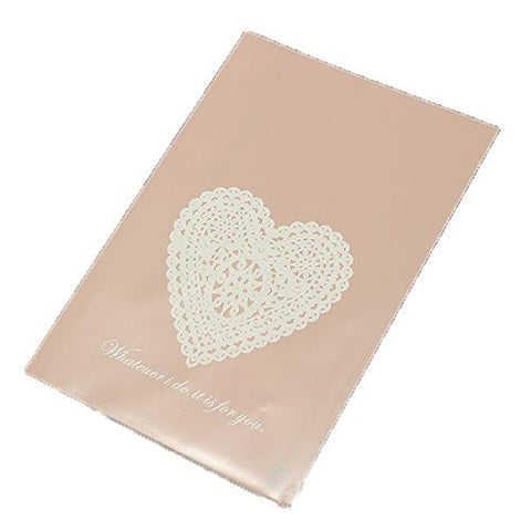 """10pcs Lace Heart Clear Cellophane Cookie Wedding Candy Party Bags"" shopping"