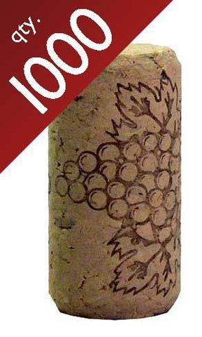 "#8 Straight corks 7/8"" x 1 3/4"" Bag of 1000"