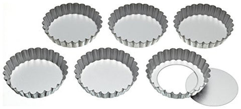 10cm Set Of 6 Loose-bottom Tart Tins